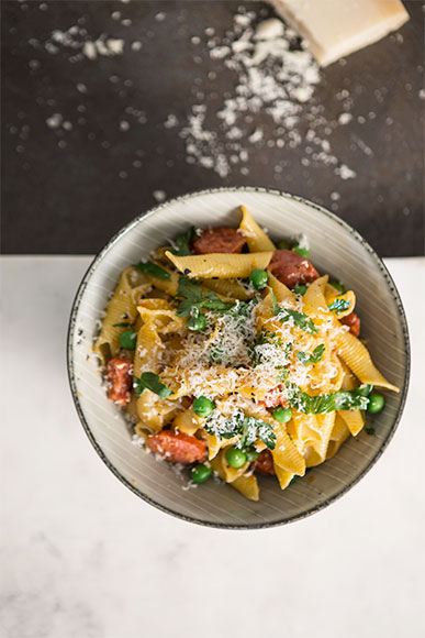 Garganelli-with-Chorizo