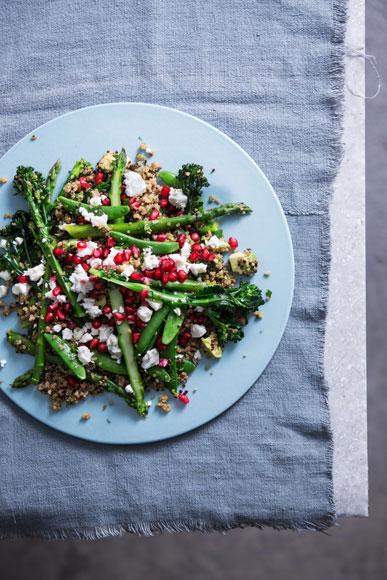 Jewelled Feta Supergreens Salad